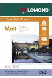 Матовая фотобумага Lomond A4 0102005, односторонняя 160 гр. м2