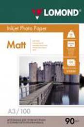 Матовая фотобумага Lomond A3 0102011