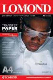 Термотрансферная бумага Lomond A4 для светлых тканей A4 140 г./м2, 10 листов