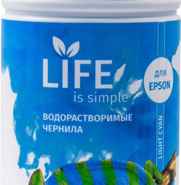 Чернила Life водорастворимые, light cyan, 1 литр