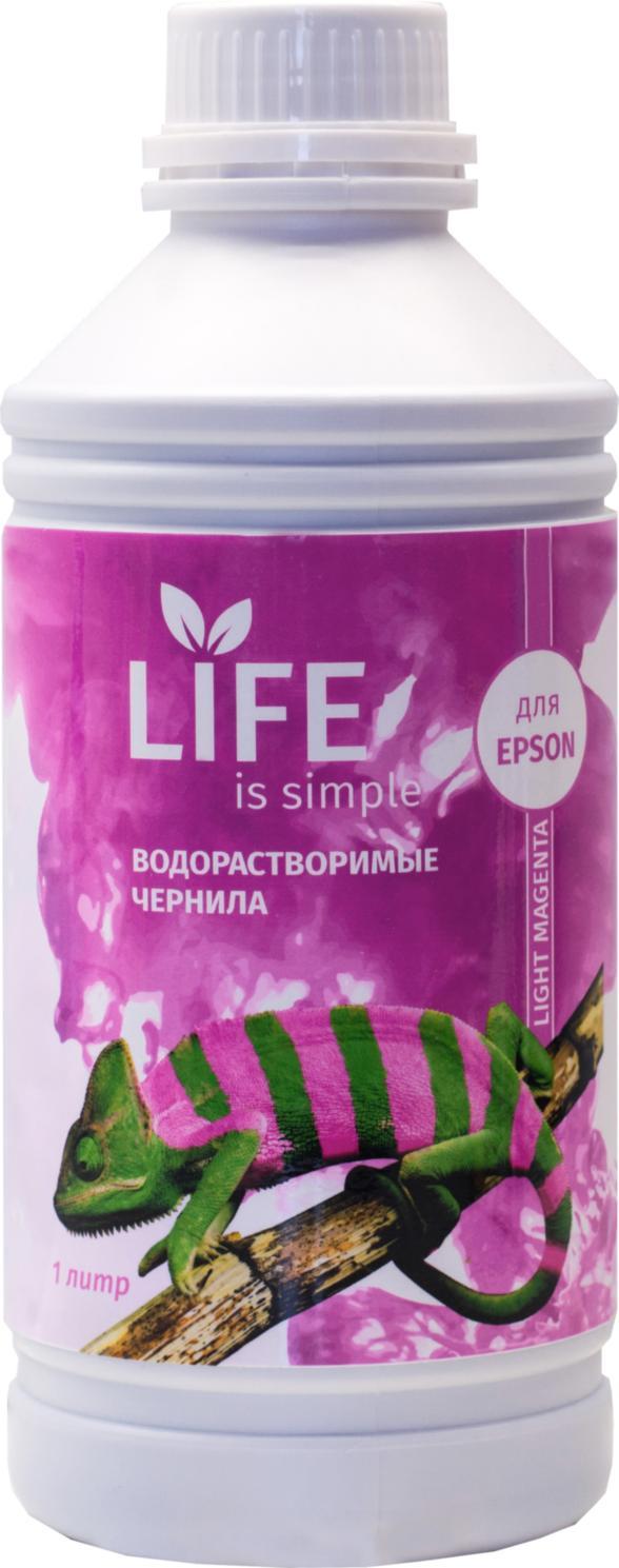 Чернила Life водорастворимые, light magenta, 1 литр