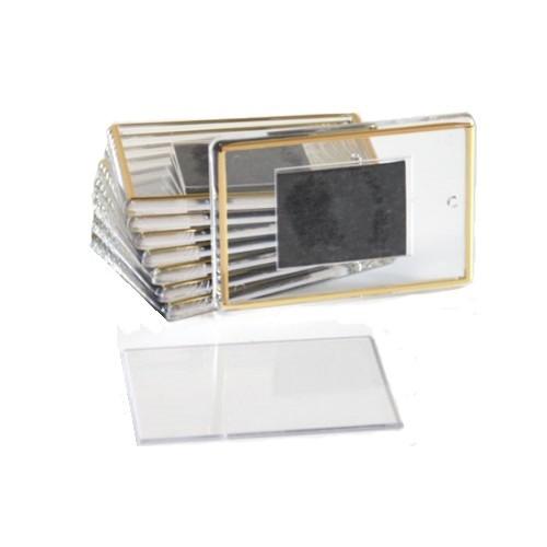 Фотомагнит прямоугольник 52х77 мм с позолотой
