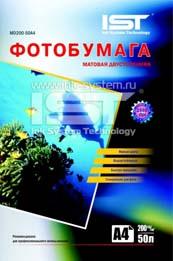 Матовая двухсторонняя фотобумага IST 140 гр. м2, 100 листов, A4 MD140-50A4