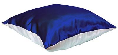 Подушка бело-синяя с наволочкой LIFE
