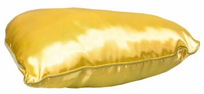 Подушка золотая с наволочкой в виде сердца LIFE (38х38см)