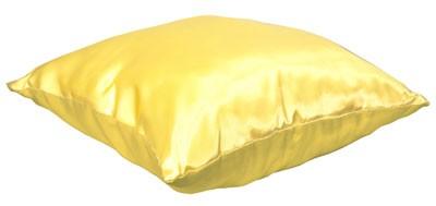 Подушка золотая с наволочкой LIFE