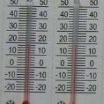 Термометр на бумажной основе 45мм*15 мм