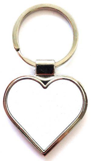 Брелок для ключей HKC, сердце (металл)