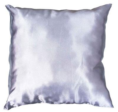 Подушка серебряная с наволочкой LIFE